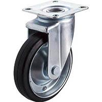 【CAINZ DASH】ユーエイ 産業用キャスター自在車 130径ゴム車輪