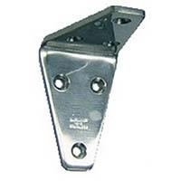 【CAINZ DASH】スガツネ工業 ステンレス製アングル棚受SV型鏡面仕上55(120−030−057