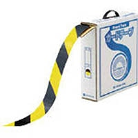 【CAINZ DASH】緑十字 ラインテープ(ガードテープ) 黄/黒 50mm幅×100m 屋内用