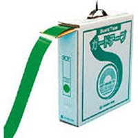 【CAINZ DASH】緑十字 ラインテープ(ガードテープ) 緑 再剥離タイプ 50幅×100m 屋内用