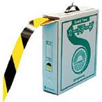 【CAINZ DASH】緑十字 ラインテープ(ガードテープ) 黄/黒 再剥離タイプ 50mm幅×100m