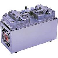 【CAINZ DASH】ULVAC 単相100V ダイアフラム型ドライ真空ポンプ 全幅140mm