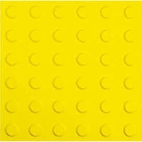 【CAINZ DASH】光 点字マット 警告タイプ大 300角