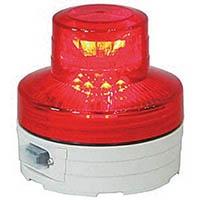 【CAINZ DASH】日動 電池式LED回転灯ニコUFO 夜間自動点灯タイプ 赤