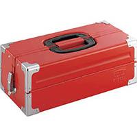 【CAINZ DASH】TONE ツールケース(メタル) V形2段式 433X220X160mm レッド