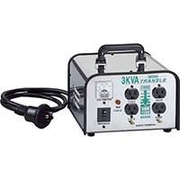 【CAINZ PRO】ハタヤ ミニトランスル 降圧型 単相200V→100・115V 3.0KVA LV03CS