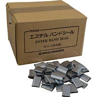 【CAINZ DASH】ツカサ 重梱包バンド用金具シール「16mm用(1000個入り)」