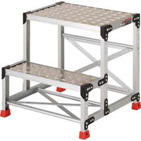 【CAINZ DASH】TRUSCO 作業用踏台 アルミ製・縞板タイプ 天板寸法600X400XH600