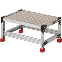 【CAINZ DASH】TRUSCO 作業用踏台 アルミ製・縞板タイプ 天板寸法600X400XH300