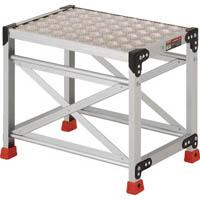 【CAINZ DASH】TRUSCO 作業用踏台 アルミ製・縞板タイプ 天板寸法600X400XH500