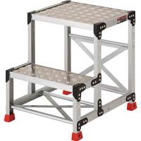 【CAINZ DASH】TRUSCO 作業用踏台 アルミ製・縞板タイプ 天板寸法500X400XH600
