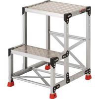 【CAINZ DASH】TRUSCO 作業用踏台 アルミ製・縞板タイプ 天板寸法500X400XH700