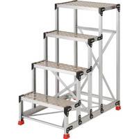 【CAINZ DASH】TRUSCO 作業用踏台 アルミ製・縞板タイプ 天板寸法600X400X1200