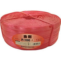 【CAINZ DASH】ツカサ 手結束用PP縄(ツカサテープ)P−100R 赤