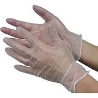 【CAINZ DASH】エステー モデルローブビニール使いきり手袋(粉つき)S  NO930 100枚入