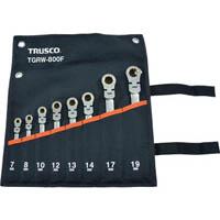 【CAINZ DASH】TRUSCO 首振ラチェットコンビネーションレンチセット(スタンダード)8本組