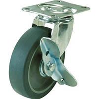 【CAINZ DASH】ユーエイ キャスター自在車ストッパー付 65径エラストマー車輪