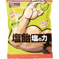 【CAINZ DASH】TRUSCO 塩飴 塩の力 750g 青梅味 詰替袋 (1袋入)