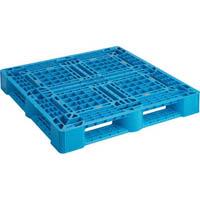 【CAINZ DASH】TRUSCO 樹脂パレット 片面4方差 1100X1100 青
