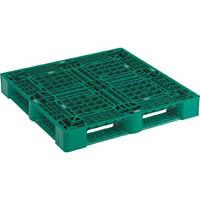 【CAINZ DASH】TRUSCO 樹脂パレット 片面4方差 1100X1100 緑