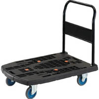 【CAINZ DASH】TRUSCO 樹脂台車 カルティオビッグ 固定 900X600 黒
