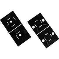 【CAINZ DASH】パンドウイット マウントベース ゴム系粘着テープ付き 白 (100個入)
