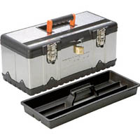 【CAINZ DASH】TRUSCO ステンレス工具箱 Mサイズ