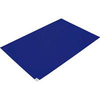 【CAINZ DASH】TRUSCO 粘着クリーンマット 600×900MM ブルー 1シート 30枚入