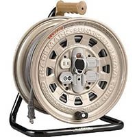 【CAINZ DASH】ハタヤ サンタイガーリール 温度センサー付コードリール 単相100V30M アース付