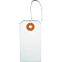 【CAINZ DASH】TRUSCO 針金付き豆荷札 60×30MM 25枚