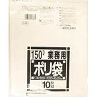 【CAINZ DASH】サニパック Lシリーズダストカート用150L薄口透明 10枚