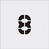 【CAINZ DASH】IM ステンシル 8 文字サイズ100×65mm
