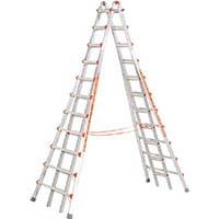 【CAINZ DASH】ハセガワ アルミ合金製伸縮式長尺専用脚立