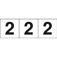 【CAINZ DASH】TRUSCO 数字ステッカ— 30×30 「2」 白 3枚入