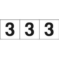 【CAINZ DASH】TRUSCO 数字ステッカー 30×30 「3」 白 3枚入