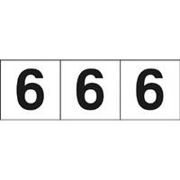 【CAINZ DASH】TRUSCO 数字ステッカー 30×30 「6」 白 3枚入