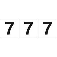 【CAINZ DASH】TRUSCO 数字ステッカー 30×30 「7」 白 3枚入