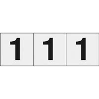 【CAINZ DASH】TRUSCO 数字ステッカ— 30×30 「1」 透明 3枚入