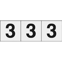 【CAINZ DASH】TRUSCO 数字ステッカー 30×30 「3」 透明 3枚入