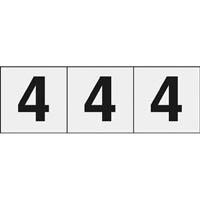 【CAINZ DASH】TRUSCO 数字ステッカー 30×30 「4」 透明 3枚入
