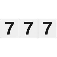 【CAINZ DASH】TRUSCO 数字ステッカー 30×30 「7」 透明 3枚入
