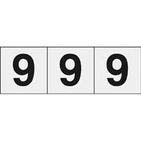 【CAINZ DASH】TRUSCO 数字ステッカー 30×30 「9」 透明 3枚入