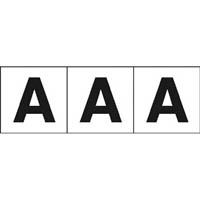 【CAINZ DASH】TRUSCO アルファベットステッカー 30×30 「A」 白 3枚入