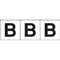 【CAINZ DASH】TRUSCO アルファベットステッカー 30×30 「B」 白 3枚入