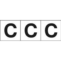 【CAINZ DASH】TRUSCO アルファベットステッカー 30×30 「C」 白 3枚入