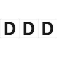 【CAINZ DASH】TRUSCO アルファベットステッカー 30×30 「D」 白 3枚入