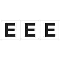 【CAINZ DASH】TRUSCO アルファベットステッカー 30×30 「E」 白 3枚入