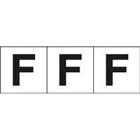 【CAINZ DASH】TRUSCO アルファベットステッカー 30×30 「F」 白 3枚入