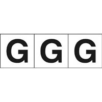 【CAINZ DASH】TRUSCO アルファベットステッカー 30×30 「G」 白 3枚入