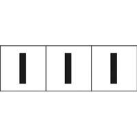 【CAINZ DASH】TRUSCO アルファベットステッカー 30×30 「I」 白 3枚入
